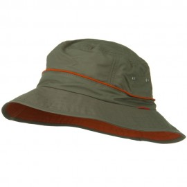 UV 50+ Orange Piping Talson Sun Bucket Hat - Olive
