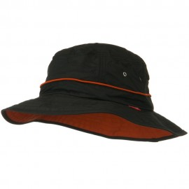 UV 50+ Orange Piping Talson Sun Bucket Hat - Black