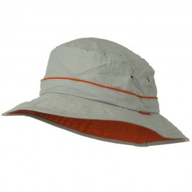 UV 50+ Orange Piping Talson Sun Bucket Hat - Grey
