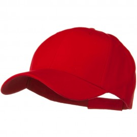 Brushed Bull Denim Low Profile Cap - Red