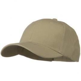 Brushed Bull Denim Low Profile Cap - Khaki