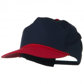 Poplin Golf Cap - Red Navy