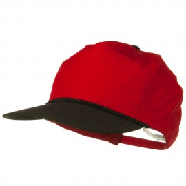 Poplin Golf Cap - Black Red