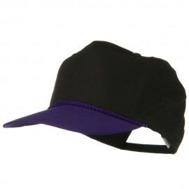 Poplin Golf Cap - Purple Black