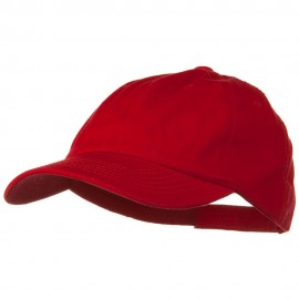 Deluxe Garment Washed Cotton Twill Cap - Red