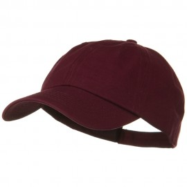 Deluxe Garment Washed Cotton Twill Cap - Maroon