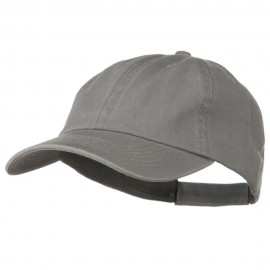 Deluxe Garment Washed Cotton Twill Cap - Grey
