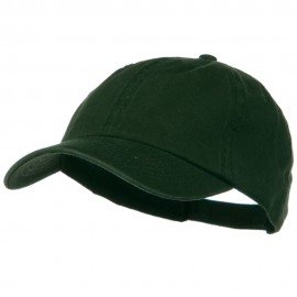 Deluxe Garment Washed Cotton Twill Cap - Dark Green