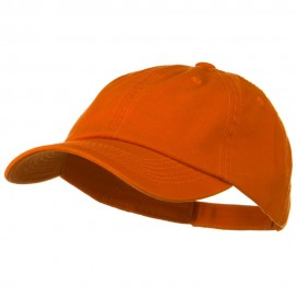 Deluxe Garment Washed Cotton Twill Cap - Orange
