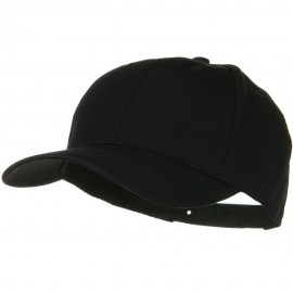 Solid Cotton Twill Low Profile Snap Cap - Black