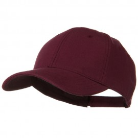 Comfy Cotton Jersey Knit Low Profile Strap Cap - Maroon