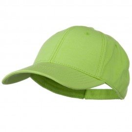Comfy Cotton Jersey Knit Low Profile Strap Cap - Lime