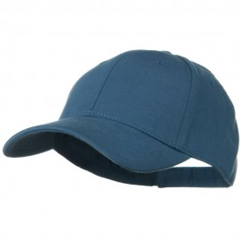 Comfy Cotton Jersey Knit Low Profile Strap Cap - Indigo Blue