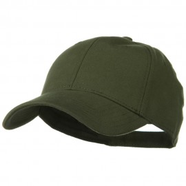 Comfy Cotton Jersey Knit Low Profile Strap Cap - Military Green