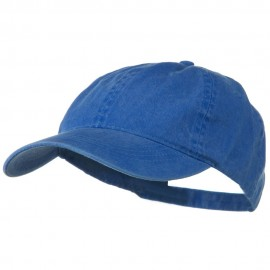 Washed Solid Pigment Dyed Cotton Twill Brass Buckle Cap - Royal