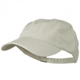 Washed Solid Pigment Dyed Cotton Twill Brass Buckle Cap - Stone Grey