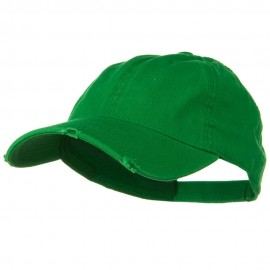 Superior Garment Washed Cotton Twill Frayed Visor Cap - Kelly