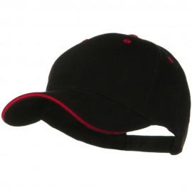 Solid Brushed Twill Sandwich Visor Cap