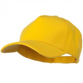 Comfy Cotton Jersey Knit 5 Panel Cap - Yellow