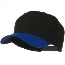 Two Tone Wool Blend Prostyle Snapback Cap - Royal Black