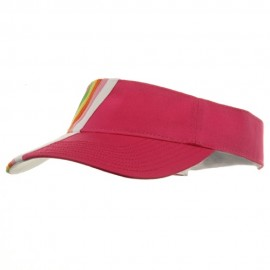 Rainbow Cotton Twill Visor-Fuchsia