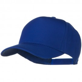 Solid Cotton Twill 5 Panel Prostyle Snap Cap - Royal
