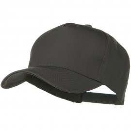 Solid Cotton Twill 5 Panel Prostyle Snap Cap - Charcoal Grey