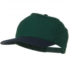 2 Tone Cotton Twill Pro style Golf Cap - Navy Dark Green