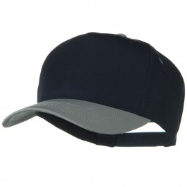 Cotton Twill Two Tone 5 Panel Prostyle Snap Cap - Grey Navy