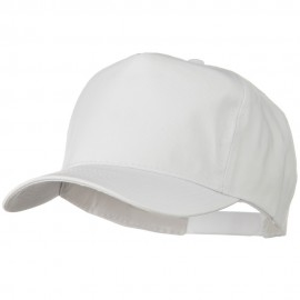 Solid Cotton Twill Pro style Golf Cap - White