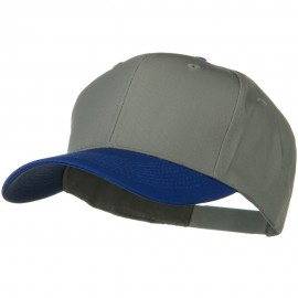 Two Tone Cotton Twill Pro Style Cap - Royal Grey