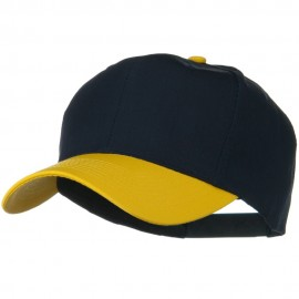 Two Tone Cotton Twill Pro Style Cap - Gold Navy