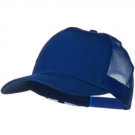 Solid Cotton Twill 5 panel Mesh Back Cap - Royal