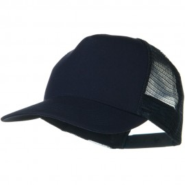 Solid Cotton Twill 5 panel Mesh Back Cap - Navy