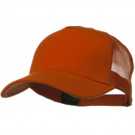 Solid Comfy Cotton Jersey 5 Panel Mesh Back Cap - Light Orange