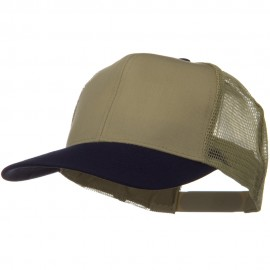 Two Tone Cotton Twill Mesh Prostyle Cap - Navy Khaki
