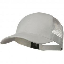 Solid Comfy Cotton Jersey Knit Mesh Back Cap - White