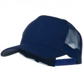 Solid Cotton Twill Mesh Prostyle Cap - Royal