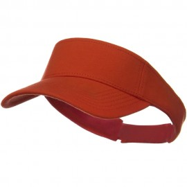 Comfy Cotton Jersey Knit Sun Visor - Orange