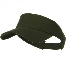 Comfy Cotton Jersey Knit Sun Visor - Dark Green