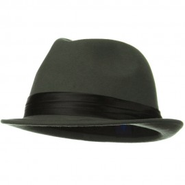 Ladies Wool Felt Fedora Hat - Grey
