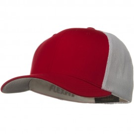 Flexfit Mesh Cotton Twill Trucker 2 Tone Cap - Red White