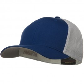 Flexfit Mesh Cotton Twill Trucker 2 Tone Cap - Royal White