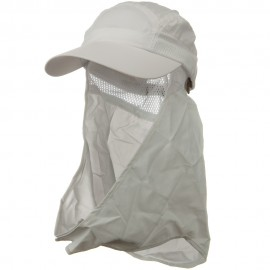 UV 50+ Talson Removable Flap Cap - White