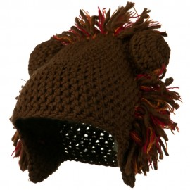 Toddler Acrylic Animal Ear Beanie - Lion Brown