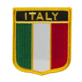 Europe Flag Embroidered Patch Shield - Italy