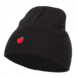 Mini Apple Embroidered Short Beanie