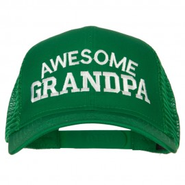 Awesome Grandpa Embroidered Solid Cotton Mesh Pro Cap