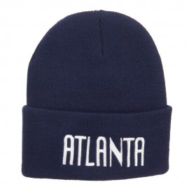 City of Atlanta Embroidered Long Beanie