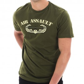 Army Air Assault Graphic Design Short Sleeve Cotton Jersey T-Shirt